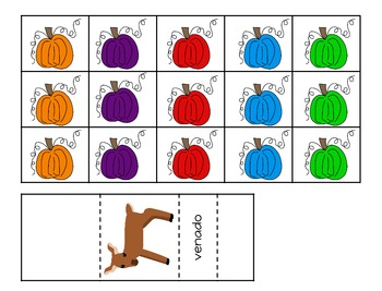Pumpkin Patch - A Cooperative Learning Game with English and Spanish Colors