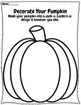 Pumpkin Patch Activities