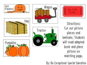 Pumpkin Patch Adapted Book