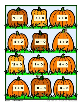 Addition Match in the Pumpkin Patch—FUN Math Drills!