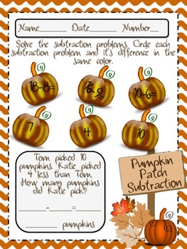 Pumpkin Patch Addition and Subtraction