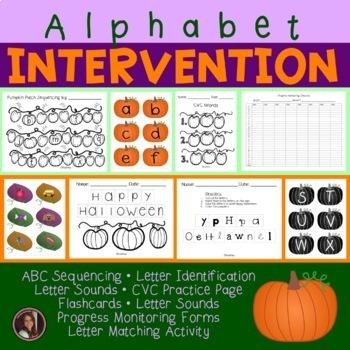 Pumpkin Patch Alphabet Activities {Letter Identification, Sequencing & Sounds}
