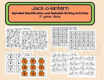 Pumpkin Patch Alphabet Identification and Alphabet Writing Activities.