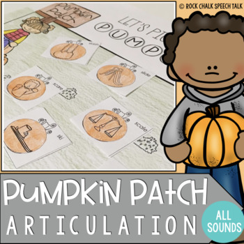 Pumpkin Patch Articulation No Prep Craft Activity