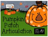 Pumpkin Patch Articulation /t/ (initial, medial, & final positions)