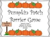 Pumpkin Patch Barrier Game