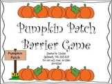Pumpkin Patch Barrier Game