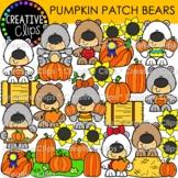Pumpkin Patch Bears {Fall Clipart}