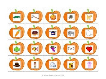 Pumpkin Patch Beginning Sound Match