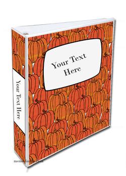 Pumpkin Patch Binder Cover Set of 3 Editable Teacher Binders, Student Portfolio
