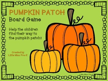 Pumpkin Patch Board Game - UPDATED with B/W Game Board!