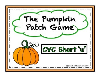 Pumpkin Patch Short Vowel Word Reading Game- CVC short 'u'