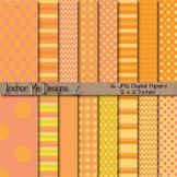 Pumpkin Patch Chevron, Polka Dot & Striped Paper Pack