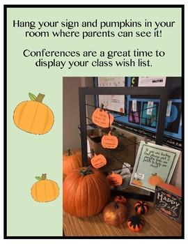 Pumpkin Patch Class Wish List