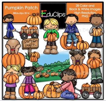 Pumpkin Patch Clip Art Bundle {Educlips Clipart}