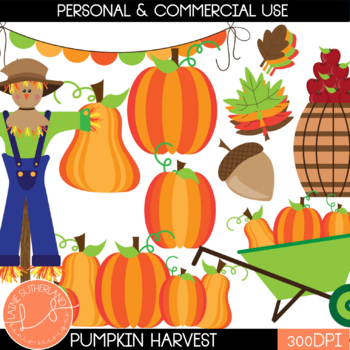 Pumpkin Patch Clip Art Set