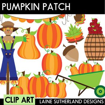 Pumpkin Patch Clip Art Set
