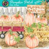 Pumpkin Patch Clip Art {Watercolor Graphics for Autumn Har