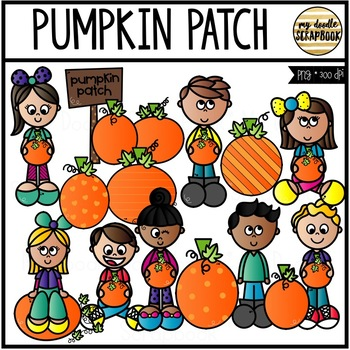 Pumpkin Patch (Clip Art for Personal & Commercial Use)