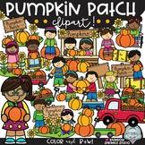 Pumpkin Patch Clipart {pumpkin kids clipart}