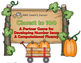 Pumpkin Patch Closest to 100 Math Game
