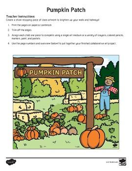 Pumpkin Patch Collaborative Classroom Art Pack