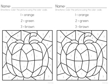 Pumpkin Patch Color-by-Number Pages