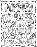 Pumpkin Patch Coloring Page for Fall & Thanksgiving