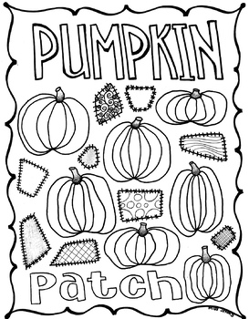 Pumpkin Patch Coloring Page For Fall Thanksgiving Autumn Thank You