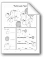 Pumpkin Patch/Cookies/Hats: Word Problems