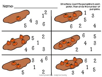 Pumpkin Patch Count and Match