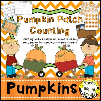 Pumpkin Activity ~ Pumpkin Patch Counting Activities, Planet Happy Smiles