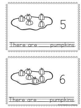 Pumpkin Patch Counting Clip Cards, Poster, Book, and Worksheet Packet - 0 to 20
