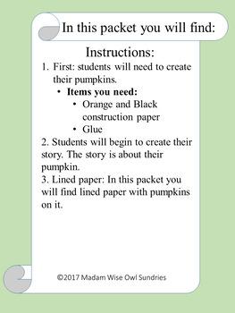Pumpkin Patch: Creative writing.