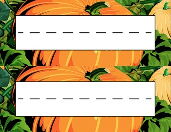 Pumpkin Patch Desk Name Tag Plates Set