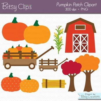 Pumpkin Patch Digital Art Set Clipart Commercial Use Clip Art