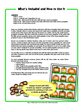 Division Match in the Pumpkin Patch—FUN Division Drills!