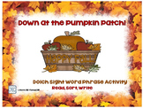 Pumpkin Patch Dolch Sight Word Phrases Literacy Centers