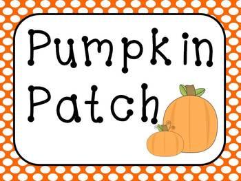 Pumpkin Patch Dramatic Play Sign  Kit