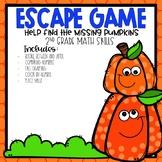 Pumpkin Patch Escape Room 2nd grade Math Skills
