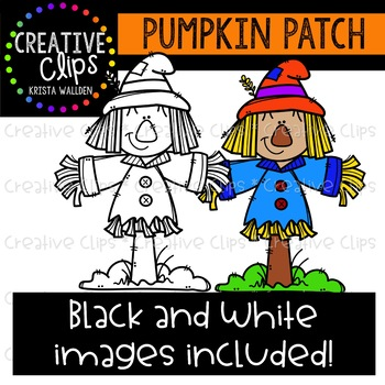 Pumpkin Patch: Fall Clipart {Creative Clips Clipart}