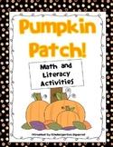 Pumpkin Patch!  Fall Math and Literacy Activities with Pumpkins