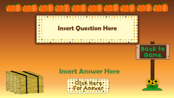Pumpkin Patch Fall Theme Find the Pumpkins Game Editable Template