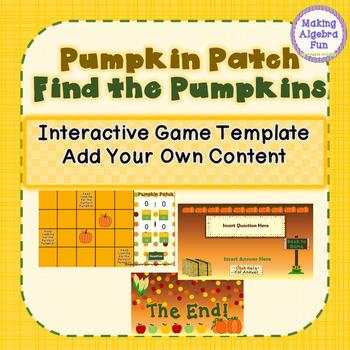 Pumpkin Patch Fall Theme Find the Pumpkins Game Editable Template