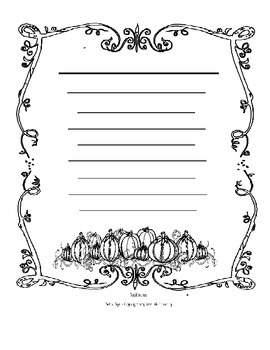 Pumpkin Patch Fall Themed Writing Papers Bundle