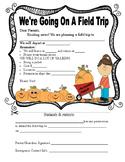 Pumpkin Patch Field Trip Form (Non-editable)