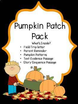 Pumpkin Patch Field Trip Letter Parent Reminder Worksheets
