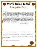 Pumpkin Patch Field Trip Permission Slip