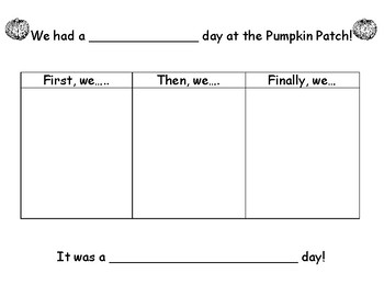 Pumpkin Patch Field Trip Story Frame