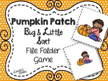 Pumpkin Patch File Folder Game: Big & Little Sort